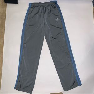 Adidas grey blue track pants M s-stripe